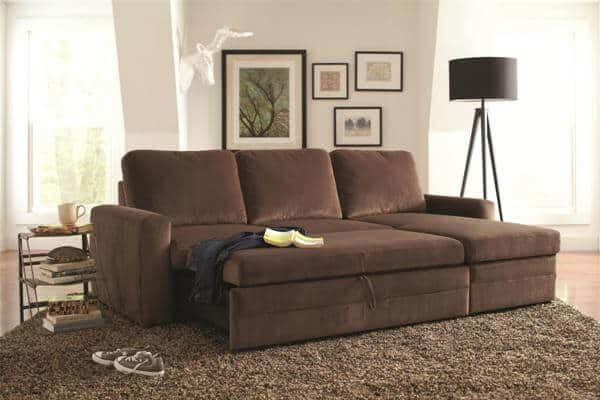 Gus Sectional Sofa with Pull Out Bed and Storage