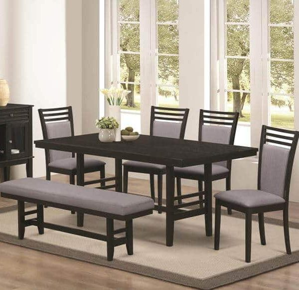 Lasalle 6 Piece Dining Set With Bench