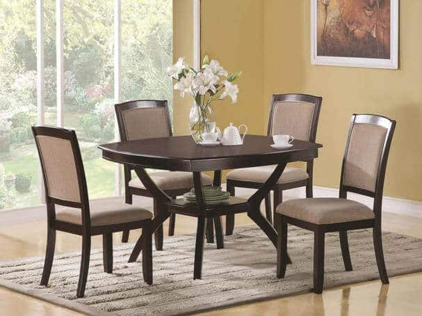 Memphis 5 piece dining table and chair set all nations furniture - Seat dining table sets ...