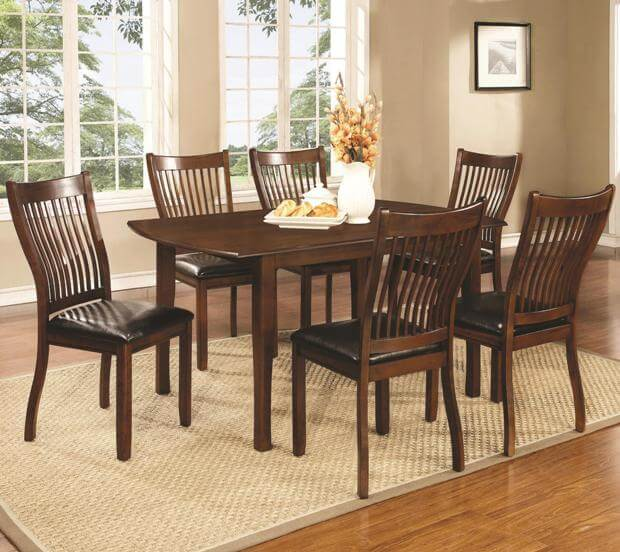 Dining Room Set For 12: Sierra 5 Piece Dining Set With Rectangular Table