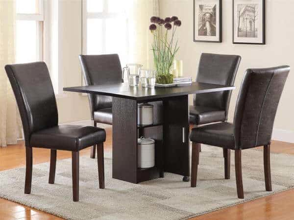 Vista Dining 5 Piece Table Set With Drop Leaf Table