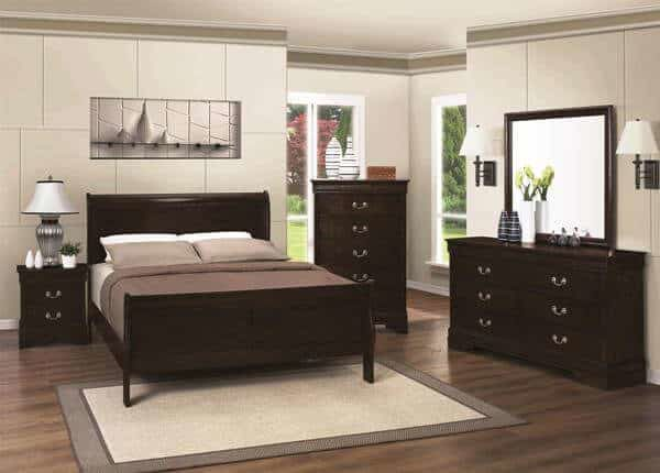 Captivating Louis Philippe 4 Piece Bedroom U2013 Cappuccino