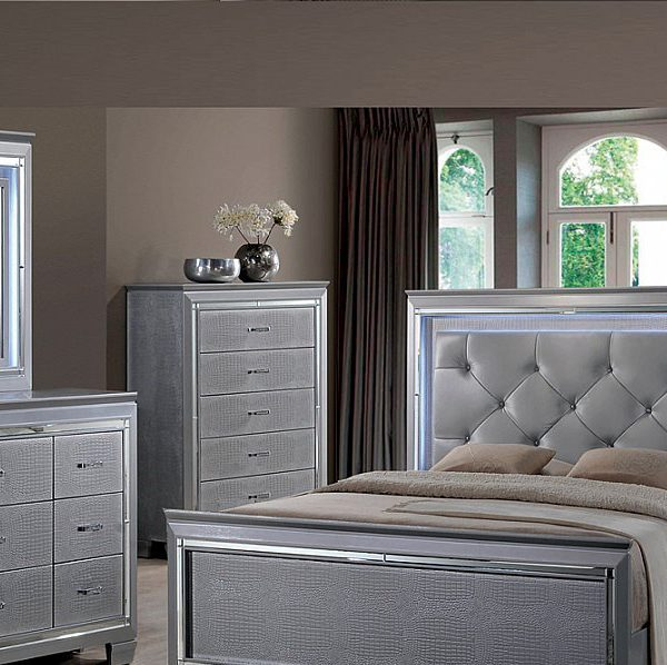 5 Modern Bedrooms: Ultra Modern Contemporary 5 Piece Bedroom Group