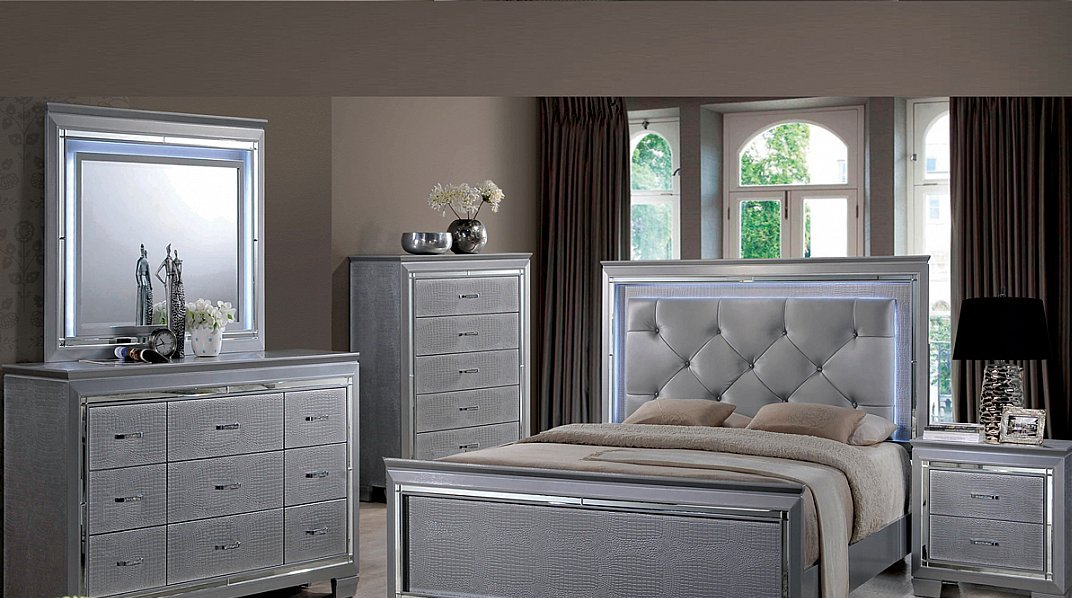 Ultra modern contemporary 5 piece bedroom group all - Ultra contemporary bedroom furniture ...
