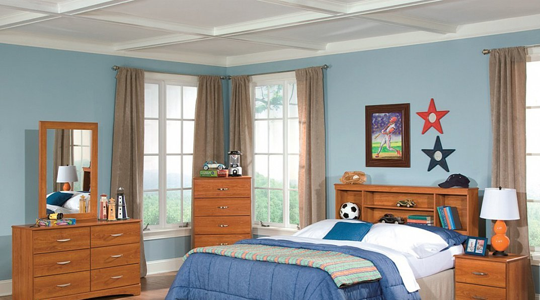 Contemporary Style 5 Piece Bedroom Group