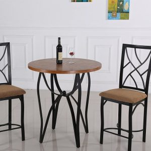 Contemporary Style 3 Piece Pub Set With Ash Finish Table Top