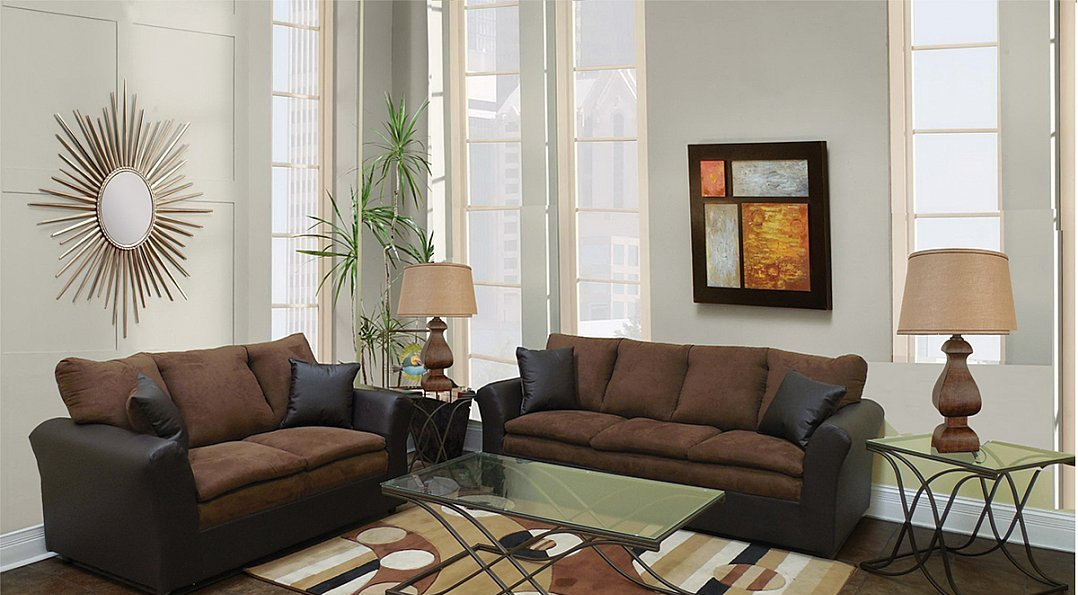 p base wbonded microfiber bonded sofa set leather w image mocha and loveseat