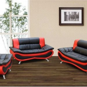 Red Furniture Living Room On F048 u2013 Black And Red Ceccina Modern Leather Sofa Loveseat And Chair Living Room All Nations Furniture