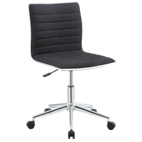 Sleek Office Chair With Chrome Base All Nations Furniture