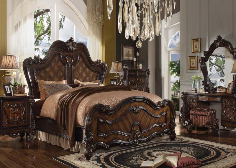 Versailles Bedroom In Wood With Cherry Oak Finish All