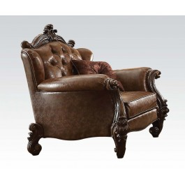 Versailles Sofa Loveseat And Chair In Wood With Cherry Oak Finish